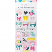Набор пафф стикеров Maggie Holmes Chasing Dreams Puffy Stickers